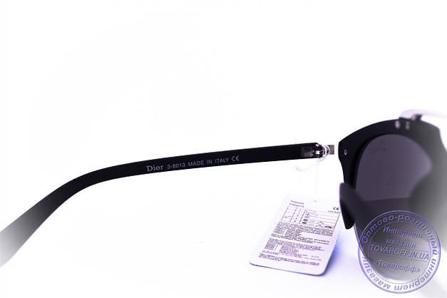 Оптом модные солнцезащитные очки Dior Clubmaster - Черные - 8013, фото 3
