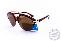 Оптом модные зеркальные солнцезащитные очки Dior Clubmaster - Леопардовые - 8013