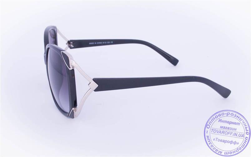 Оптом женские солнцезащитные очки - Черные - 9112, фото 2