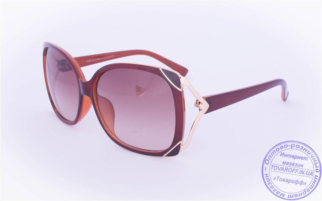 Оптом женские солнцезащитные очки - Коричневые - 9112