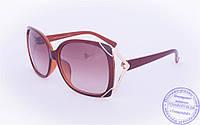 Оптом женские солнцезащитные очки - Коричневые - 9112, фото 1