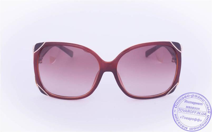 Оптом женские солнцезащитные очки - Коричневые - 9112, фото 2