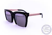 Оптом квадратные зеркальные очки - Черные - 13086, фото 1