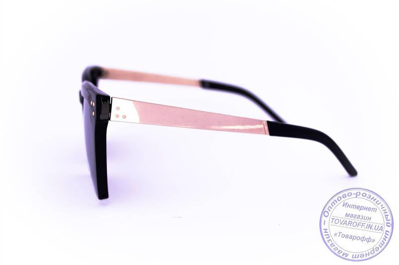 Оптом квадратные зеркальные очки - Черные - 13086, фото 2