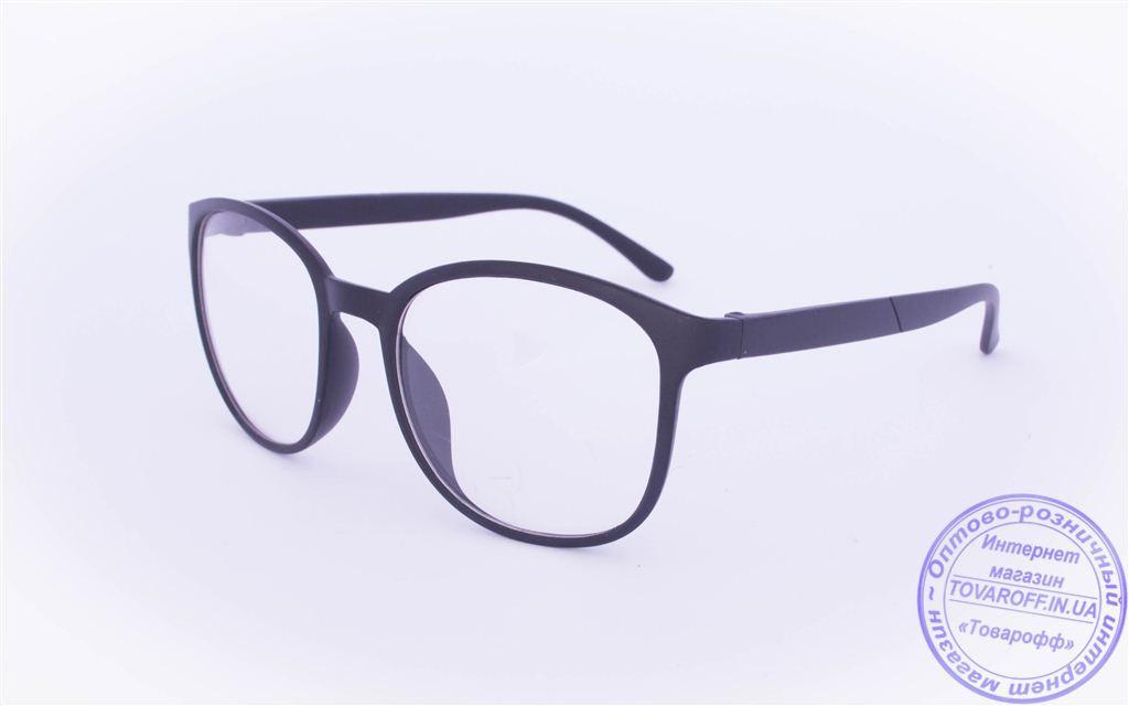 Оптом имиджевые очки в ретро стиле - Черные - 15092