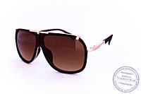 Оптом универсальные солнцезащитные матовые очки в стиле Каррера - Коричневые - 23047