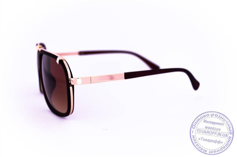 Оптом універсальні сонцезахисні матові окуляри в стилі Каррера - Коричневі - 23047, фото 2