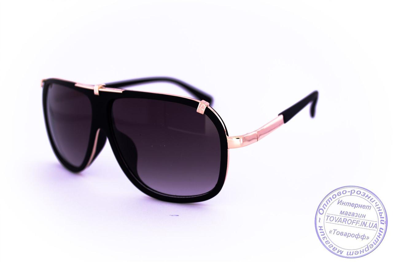 Оптом універсальні сонцезахисні матові окуляри в стилі Каррера - Чорні - 23047