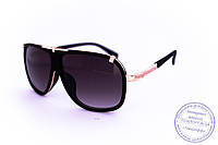Оптом универсальные солнцезащитные матовые очки в стиле Каррера - Черные - 23047