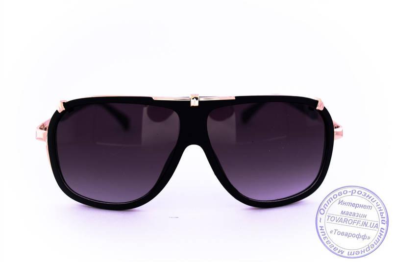Оптом універсальні сонцезахисні матові окуляри в стилі Каррера - Чорні - 23047, фото 2
