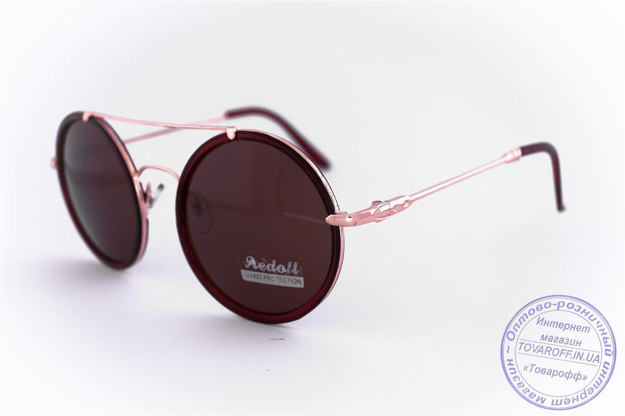 Оптом круглые очки - Коричневые - 53023