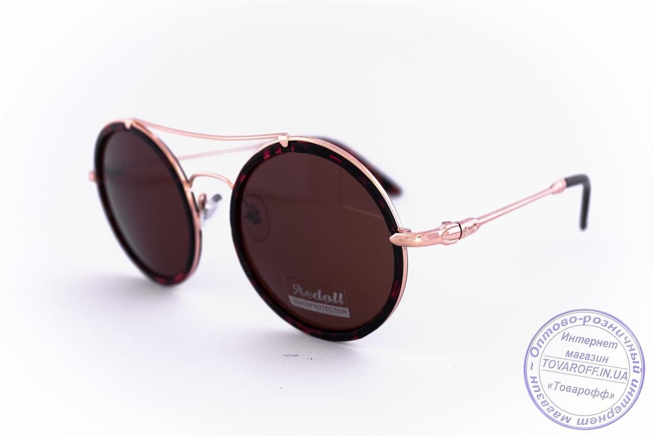 Оптом круглі окуляри - Леопардові - 53023