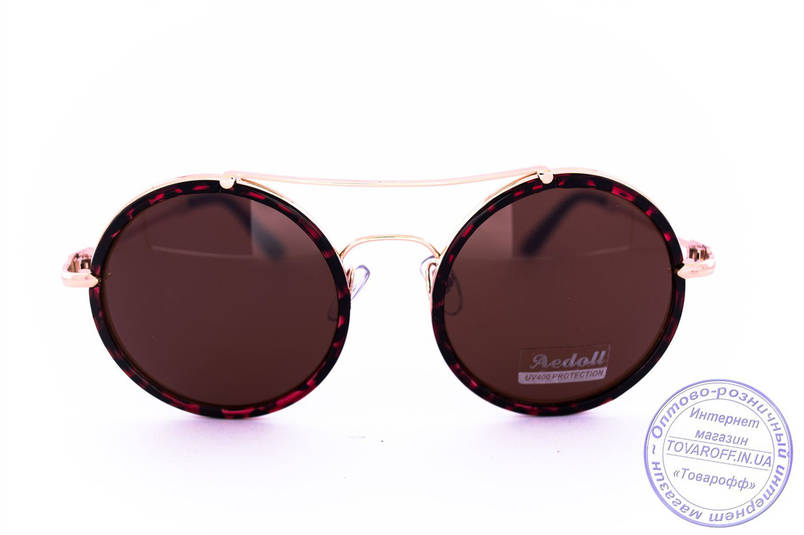 Оптом круглі окуляри - Леопардові - 53023, фото 2