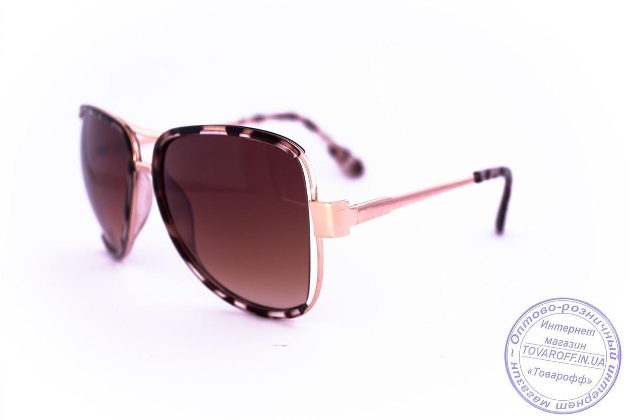 Оптом модные очки Aviator - Леопардовые - 58265