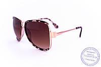 Оптом модные очки Aviator - Леопардовые - 58265, фото 1