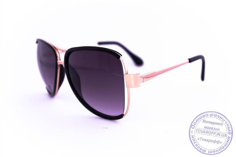 Оптом модные очки Aviator - Черные - 58265, фото 2