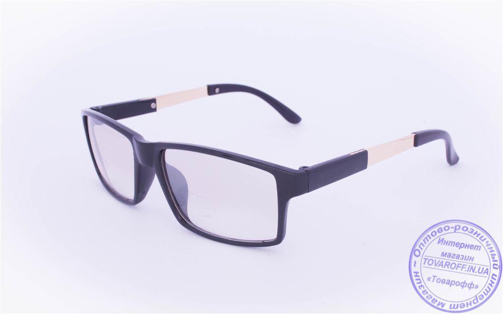 Оптом имиджевые очки с легким затемнением - Черные - 1995-1