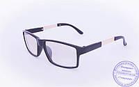 Оптом имиджевые очки с легким затемнением - Черные - 1995-1, фото 1
