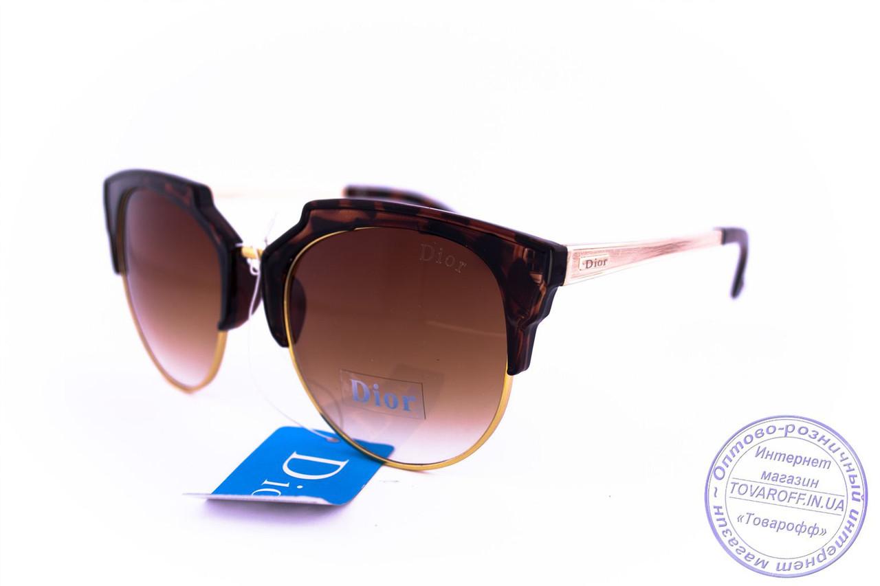 Оптом брендові сонцезахисні окуляри Dior Clubmaster - Леопардові - 2015-107