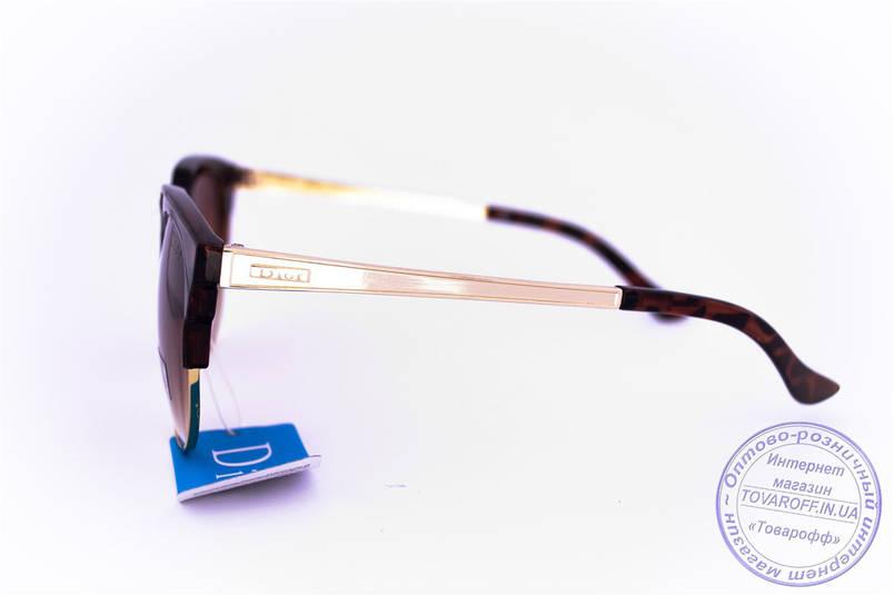 Оптом брендові сонцезахисні окуляри Dior Clubmaster - Леопардові - 2015-107, фото 2