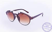 Оптом солнцезащитные очки овальной формы - Коричневые - 2015-205, фото 1