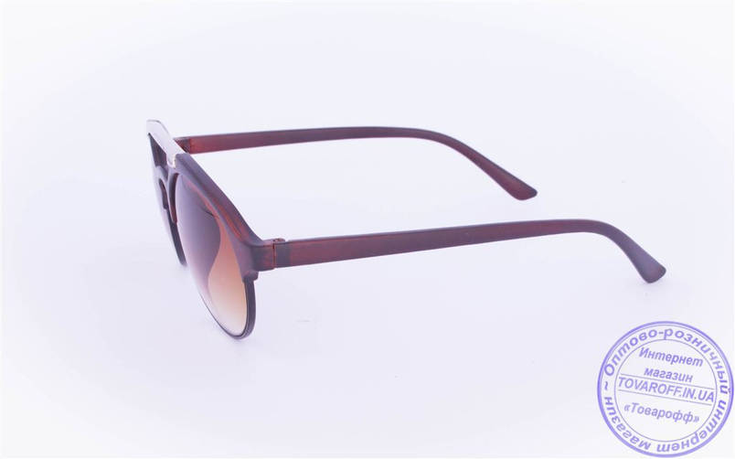 Оптом солнцезащитные очки овальной формы - Коричневые - 2015-205, фото 2