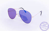 Оптом брендовые солнцезащитные очки Aviator с цветными зеркальными линзами - RB-1, фото 1