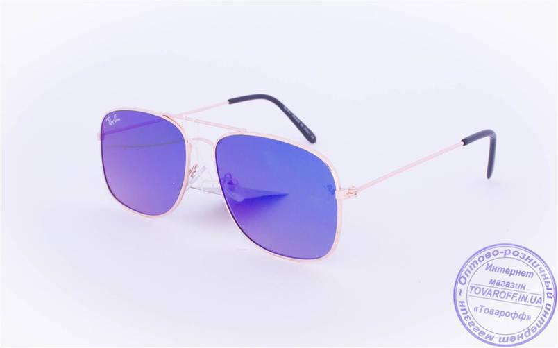 Оптом брендові сонцезахисні окуляри з кольоровими дзеркальними лінзами - RB-1, фото 2