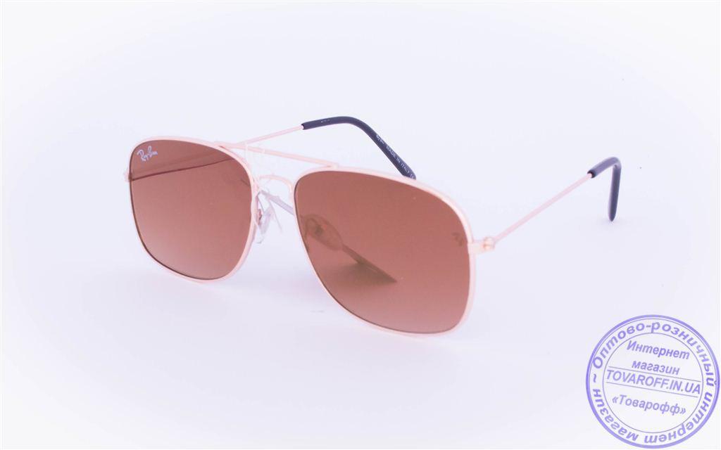 Оптом брендовые солнцезащитные очки Ray Ban с цветными зеркальными линзами - RB-2