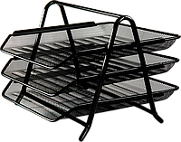 Лоток горизонтальный  3-х ярусный, метал ВМ.6252-01 (черн)