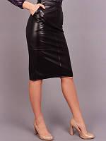 Прямая юбка из искусственной кожи, фото 1