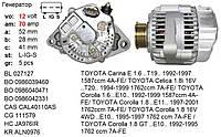 Генератор б у GEO Prizm TOYOTA Avensis Carina E Celica Corolla 1.6 1.8, фото 1