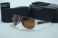 Солнцезащитные очки  Porsche Design мужские с коричневыми линзами, фото 1