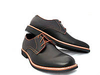 Туфли мужские стильные чёрные, фото 1