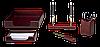 Набор настольный деревян., 5 пр., кр.дер. 5138WDM