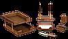 Набор настольный деревян., 6 пр., орех 6280WDN