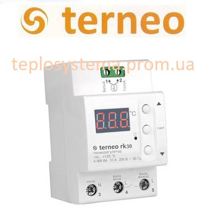 Терморегулятор Terneo rk30 для электрического котла (на DIN-рейку), Украина, фото 2