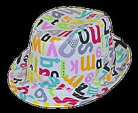 Шляпа детская челентанка комби азбука