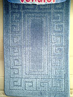 Наборы ковриков для ванной комнаты голубой производство Турция
