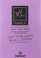 Склейка для маркера, гладкая, БЕЛАЯ, А3(29,7х42см), 70г/м.кв., 100л., XL, Canson