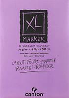 Склейка для маркера Canson XL, гладкая белая А3 (29,7х42см) 70 г/м2 100 листов (200297237)
