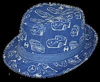 Шляпа детская челентанка джинс тачки