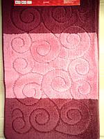 Набор ковриков в ванную комнату розовый производство Турция