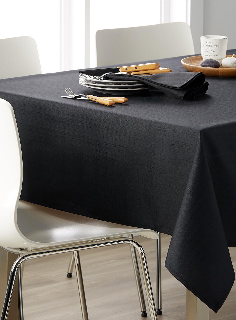 Скатерть для стола 290х140см, однотонная Чёрный
