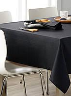 Скатерть для стола 190х140см, однотонная Чёрный