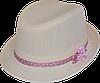 Шляпа детская челентанка цветы персик