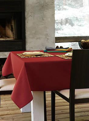 Скатерть для стола 140х140см, однотонная Красный, фото 2