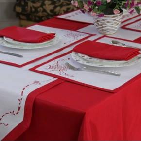 Скатерть для стола 290х140см, однотонная Красный, фото 2