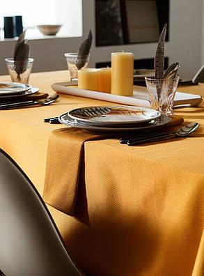 Скатерть для стола 290х140см, однотонная Жёлтый, фото 2