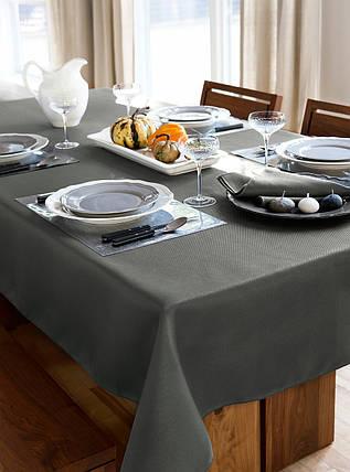 Скатерть для стола 190х140см, однотонная Серый, фото 2